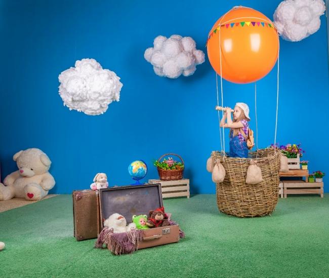 Фотозона воздушный шар с корзиной